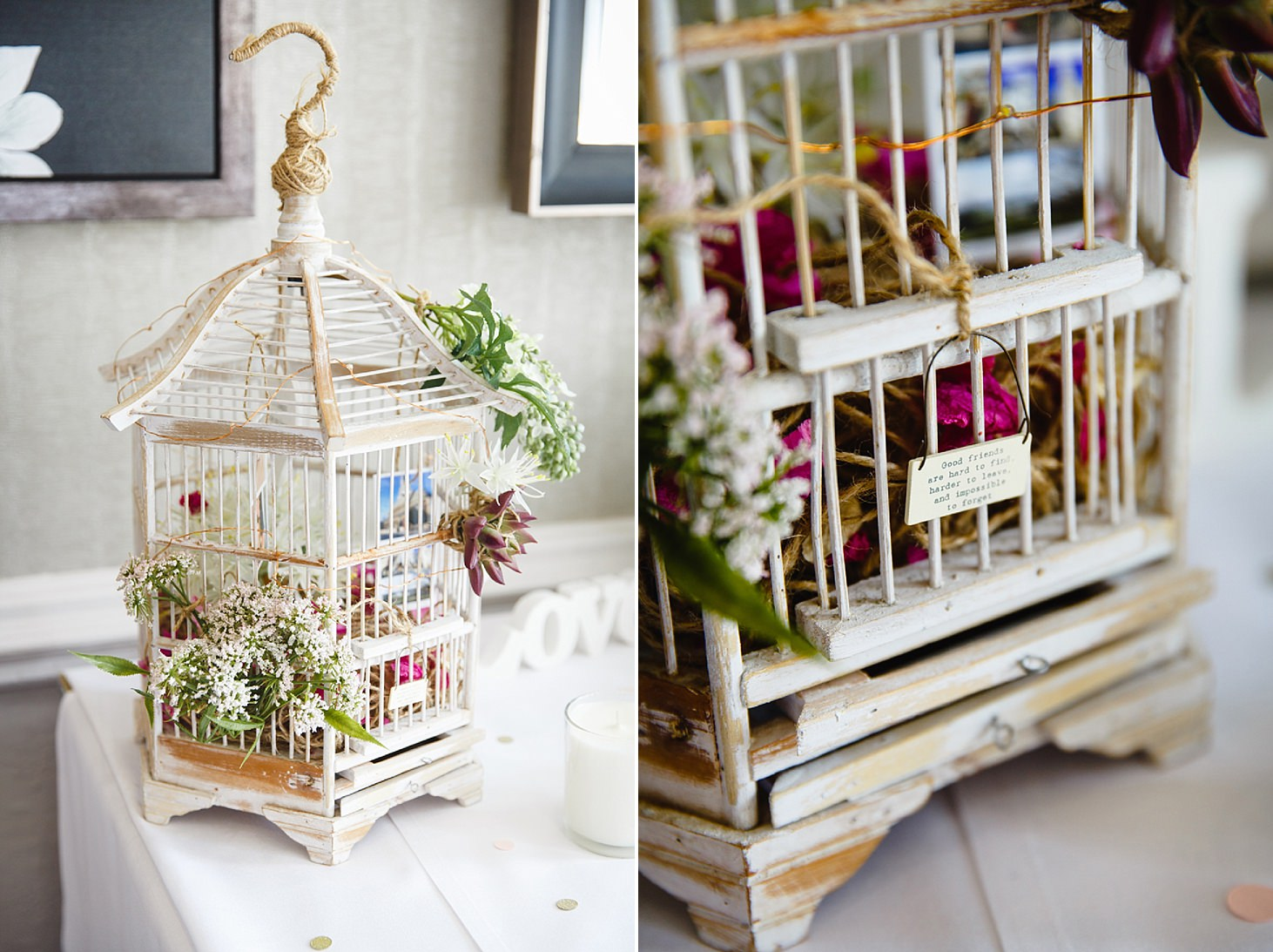 richmond hill wedding photography birdcage detail