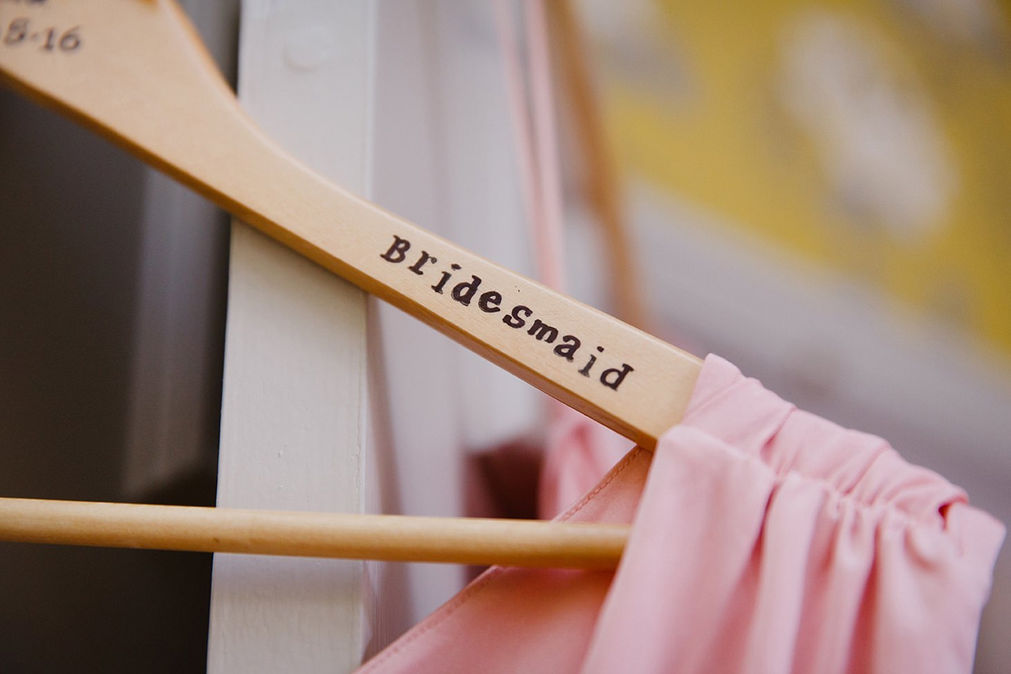 richmond hill wedding photography personalised bridesmaid hanger