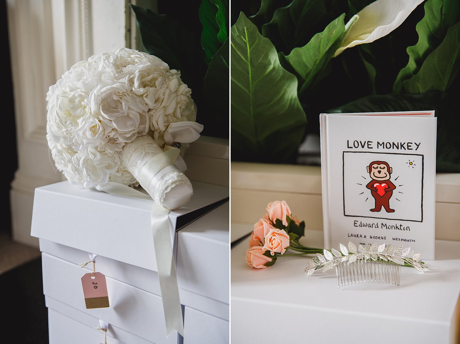 richmond hill wedding photography bouquet and personalised book