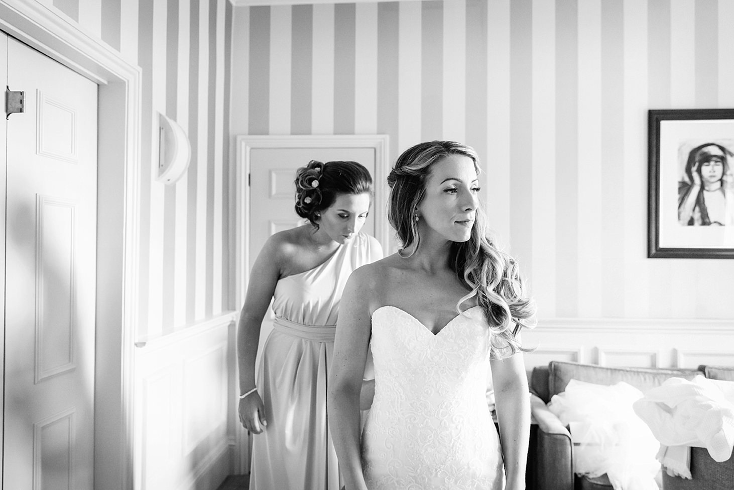 richmond hill wedding photography bride in wedding dress
