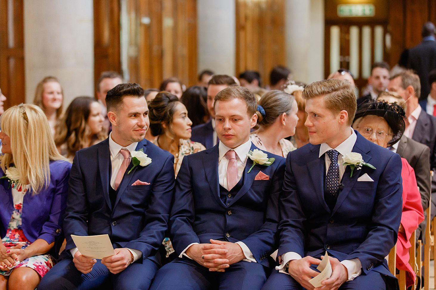 richmond hill wedding photography groom at st mary magdalene church