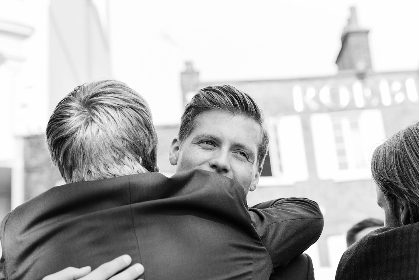 richmond hill wedding photography groom hug