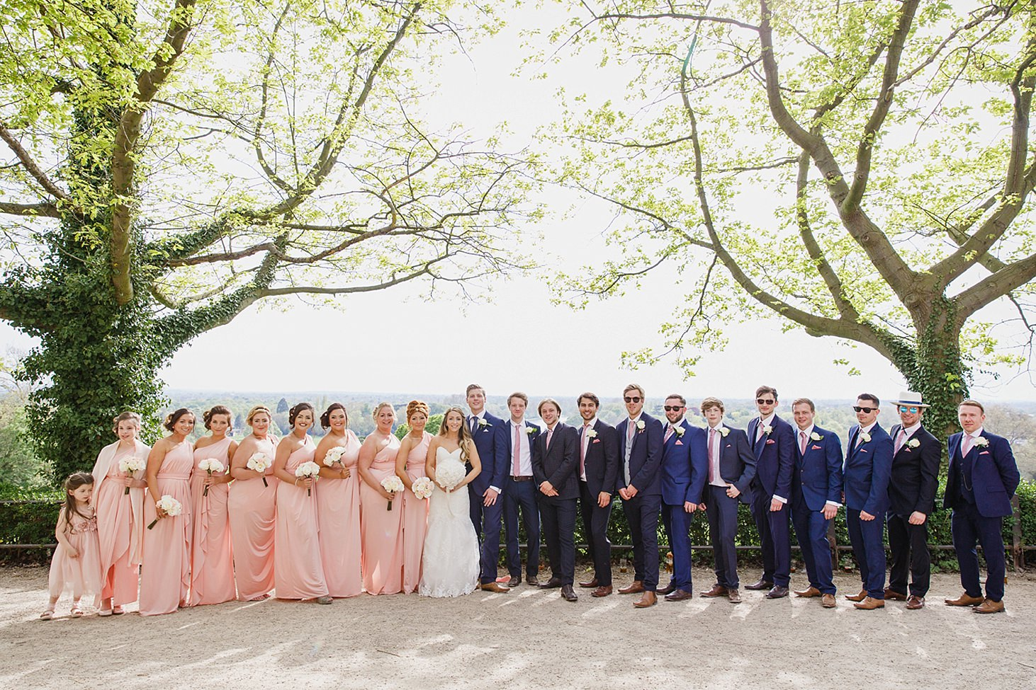 richmond hill wedding photography groomsmen and bridesmaids