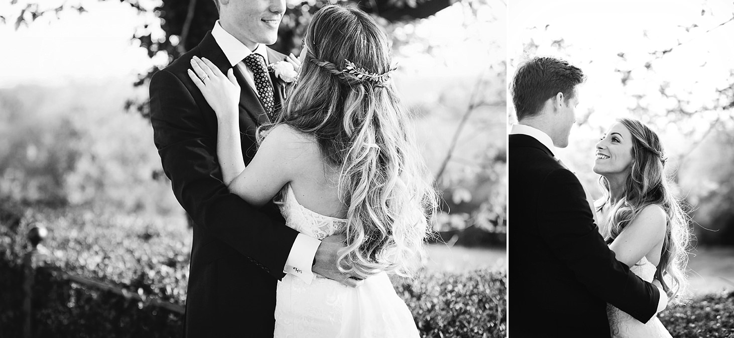 richmond hill wedding photography bride and groom hugging