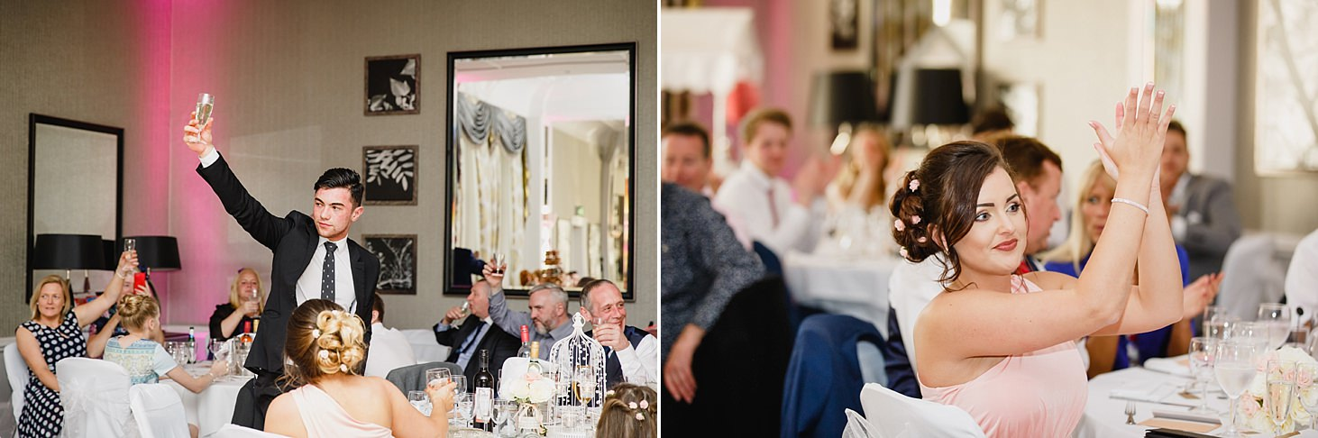 richmond hill wedding photography toasts during speeches