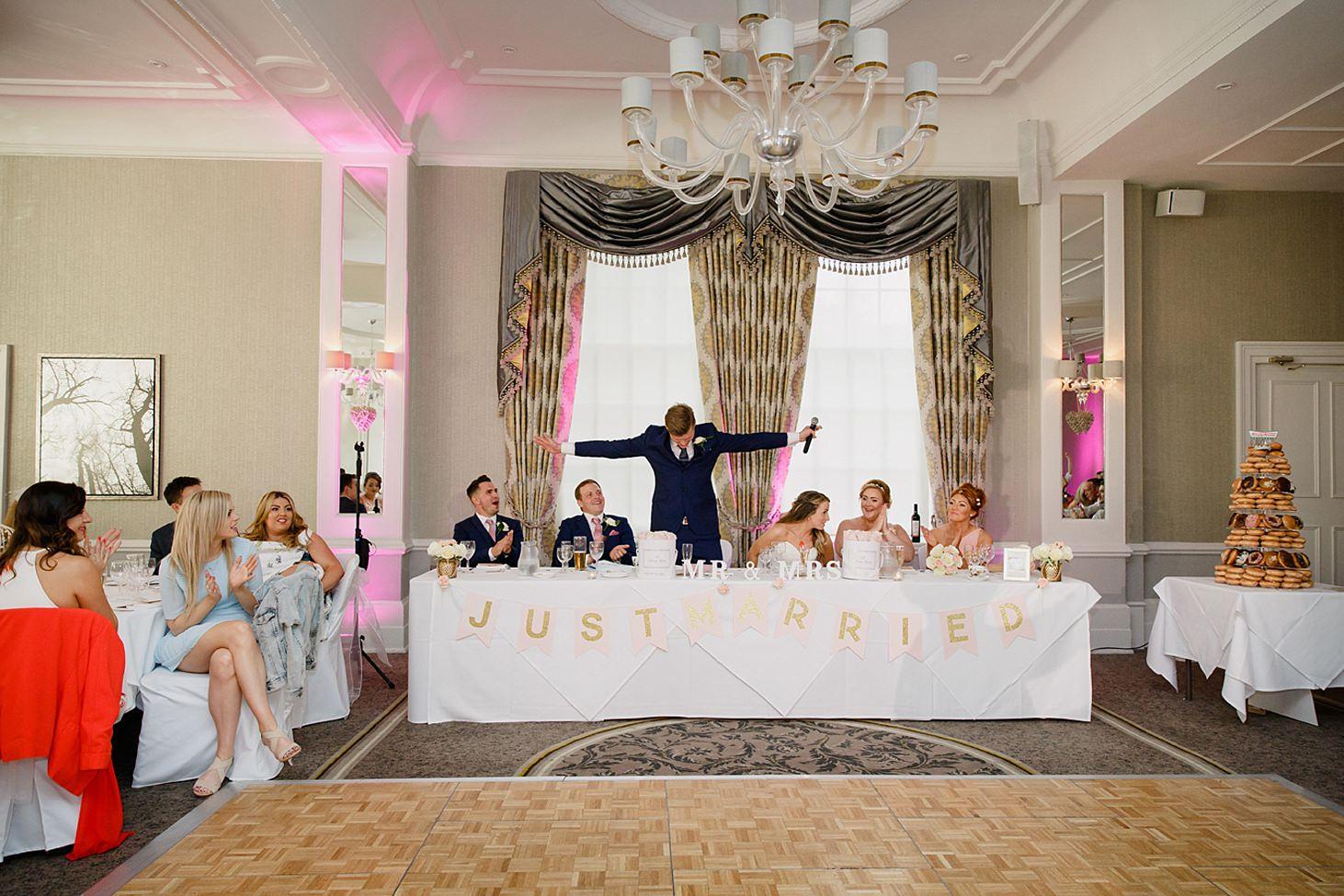 richmond hill wedding photography groom speech
