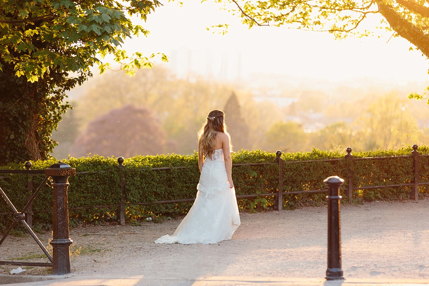 richmond hill wedding photography portrait of bride at sunset