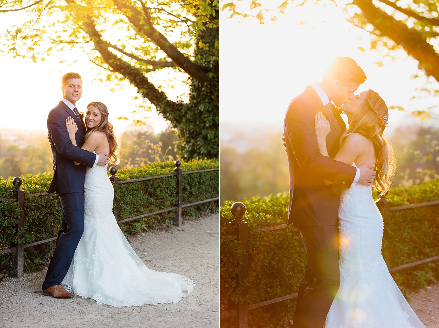 richmond hill wedding photography sunset portraits