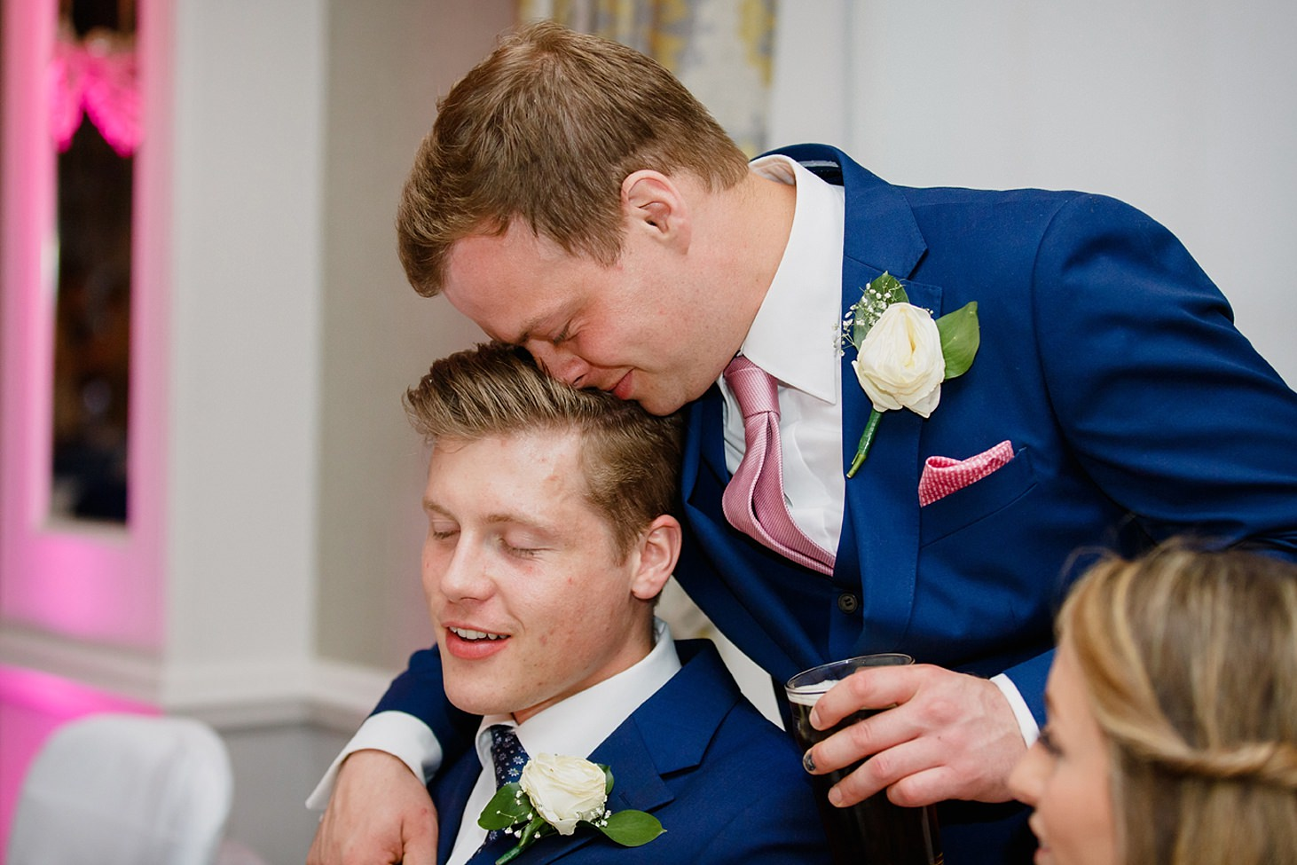 richmond hill wedding photography groom and brother