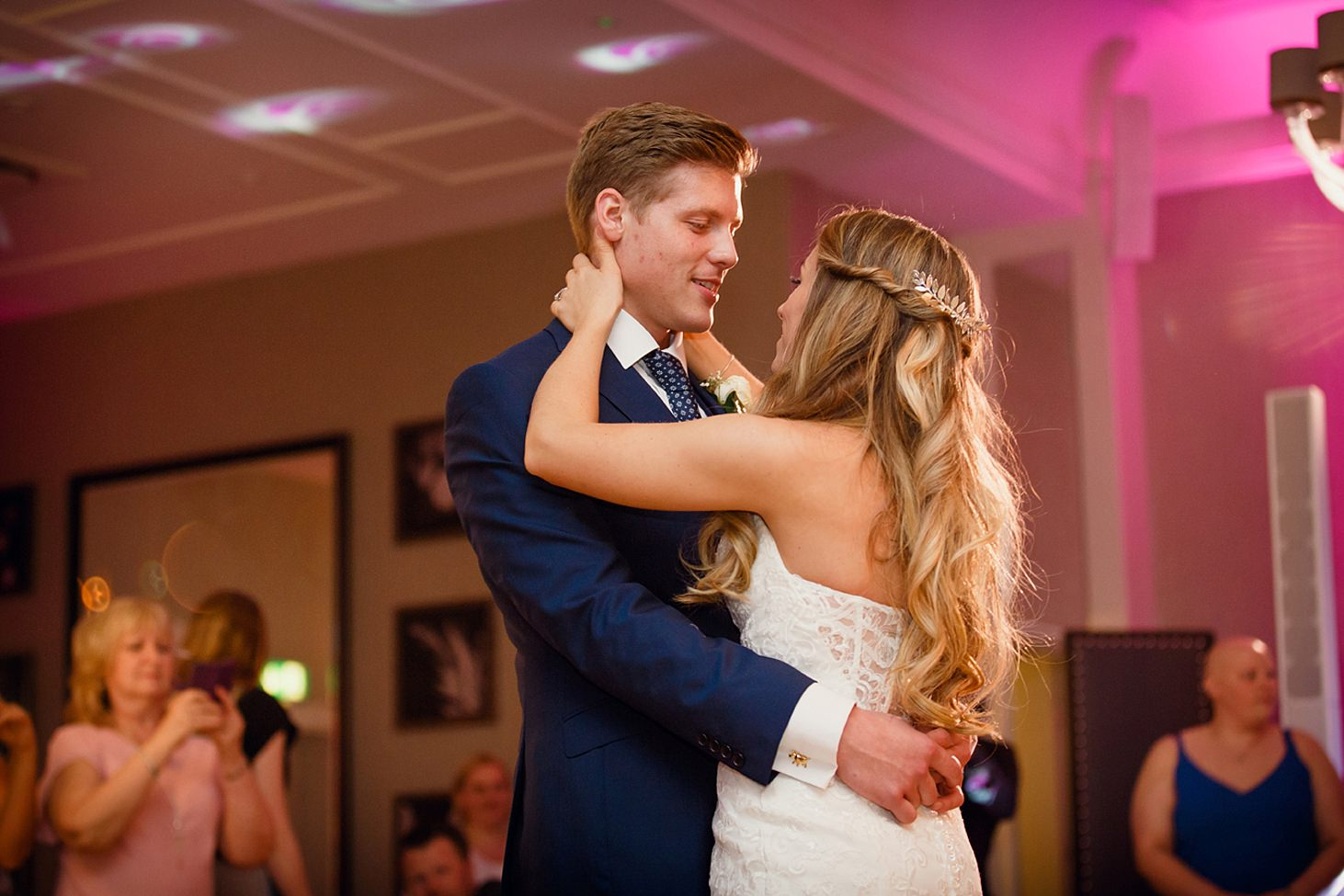 richmond hill wedding photography bride and groom dancing