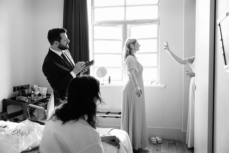 Londesborough pub wedding photography wedding photography bridemais with face spray