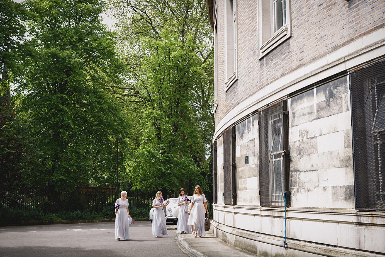 Londesborough pub wedding photography bridesmaids arrival