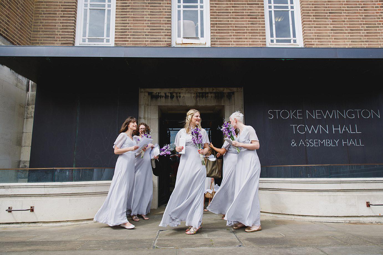 Londesborough pub wedding photography bridesmaids at stoke newington