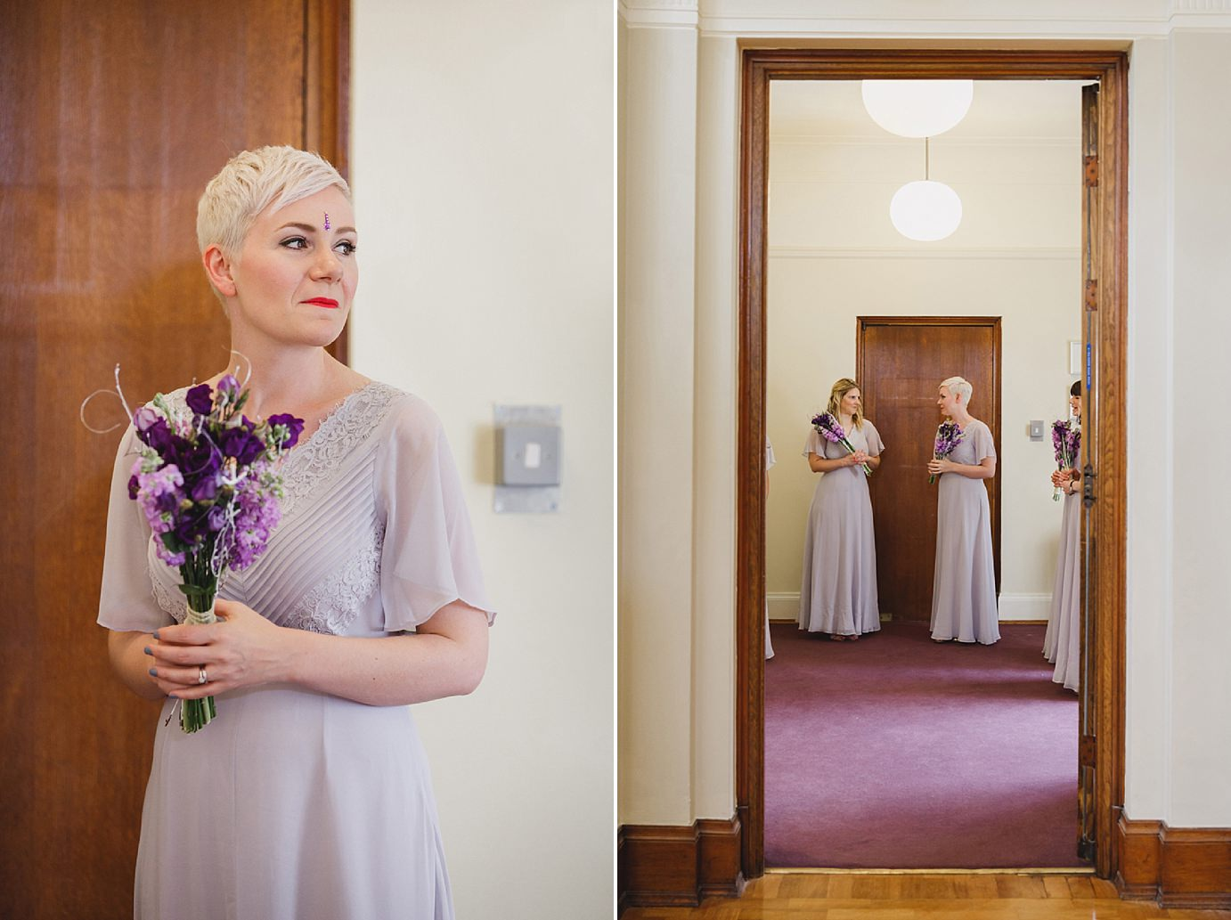 Londesborough pub wedding photography bridesmaids waiting