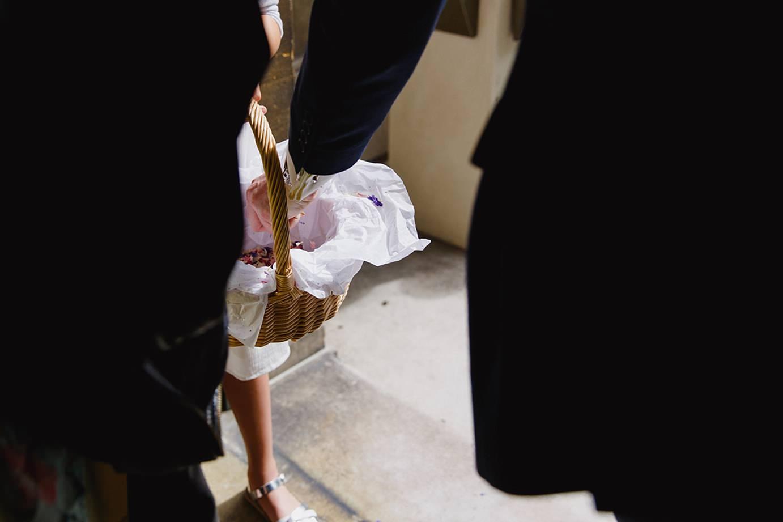 Londesborough pub wedding photography hand in confetti basket