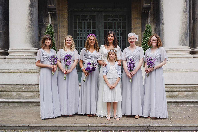 Londesborough pub wedding photography bride and bridesmaids