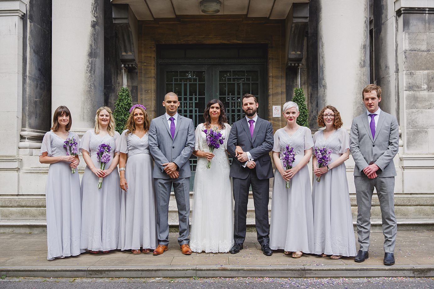 Londesborough pub wedding photography bridesmaids and groomsmen