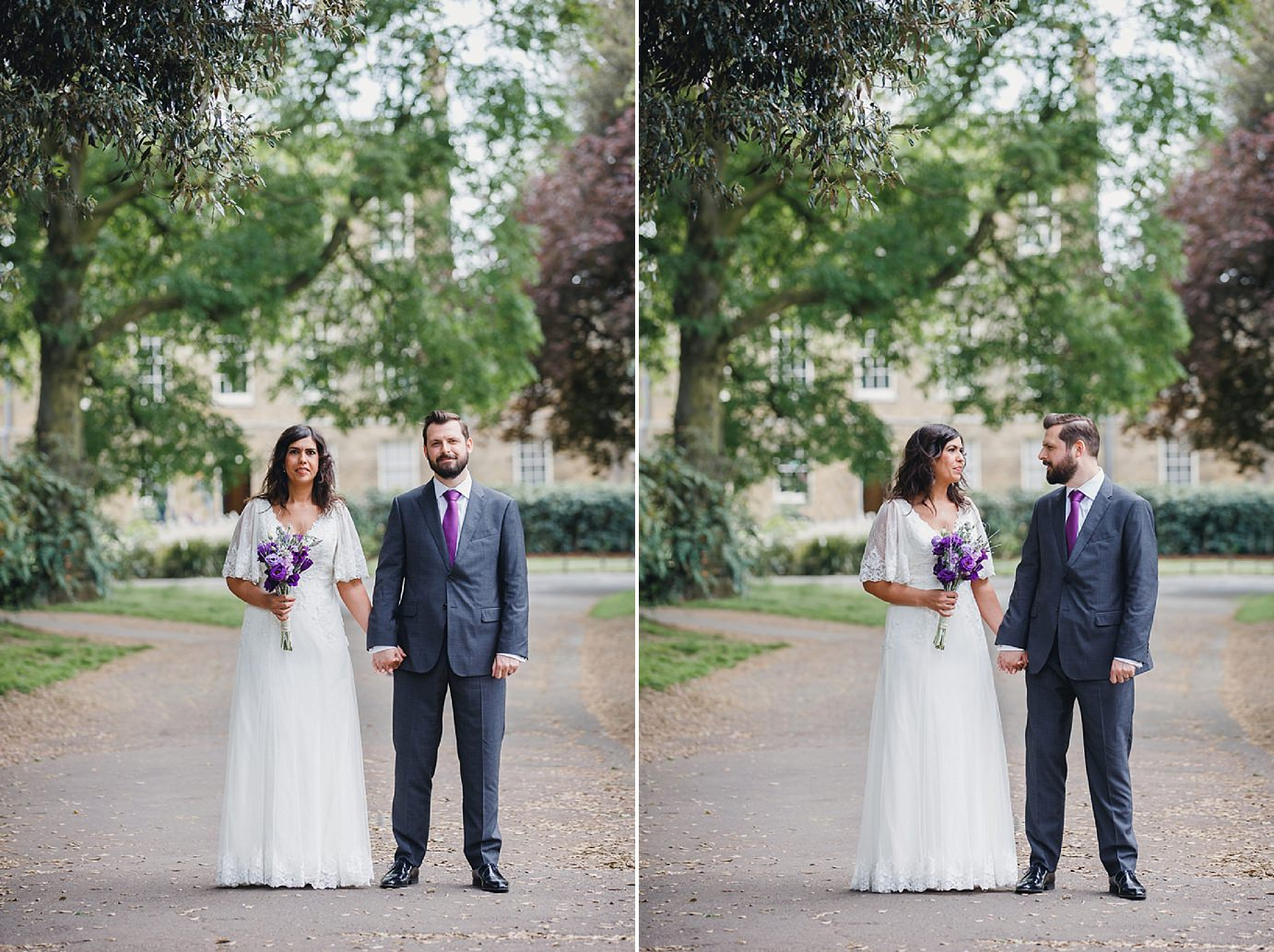 Londesborough pub wedding photography bride and groom in clissold park