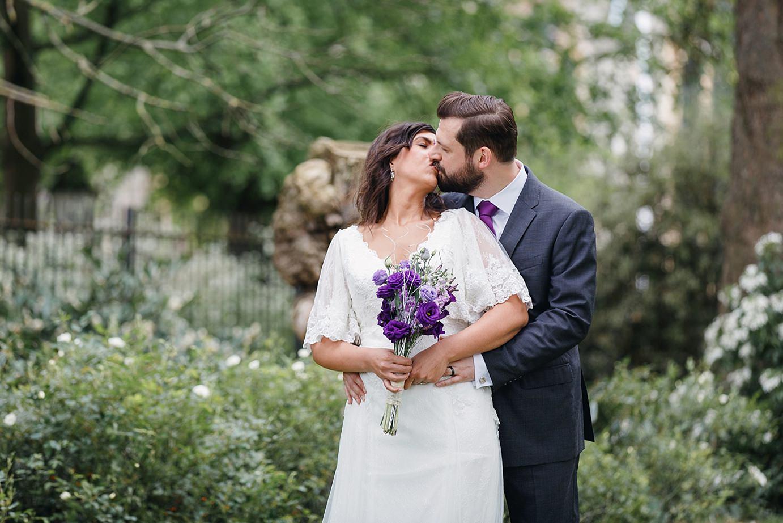 Londesborough pub wedding photography bride and groom kissing