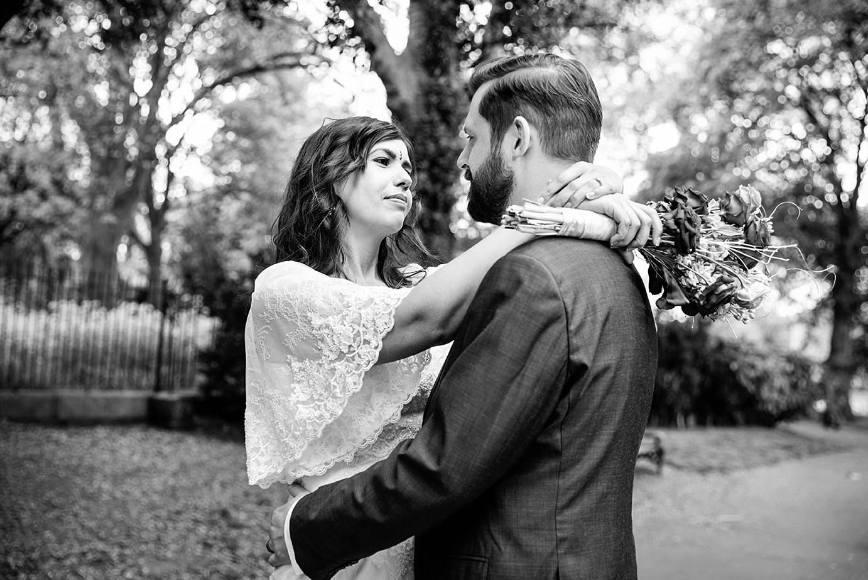 Londesborough pub wedding photography bride and groom hug