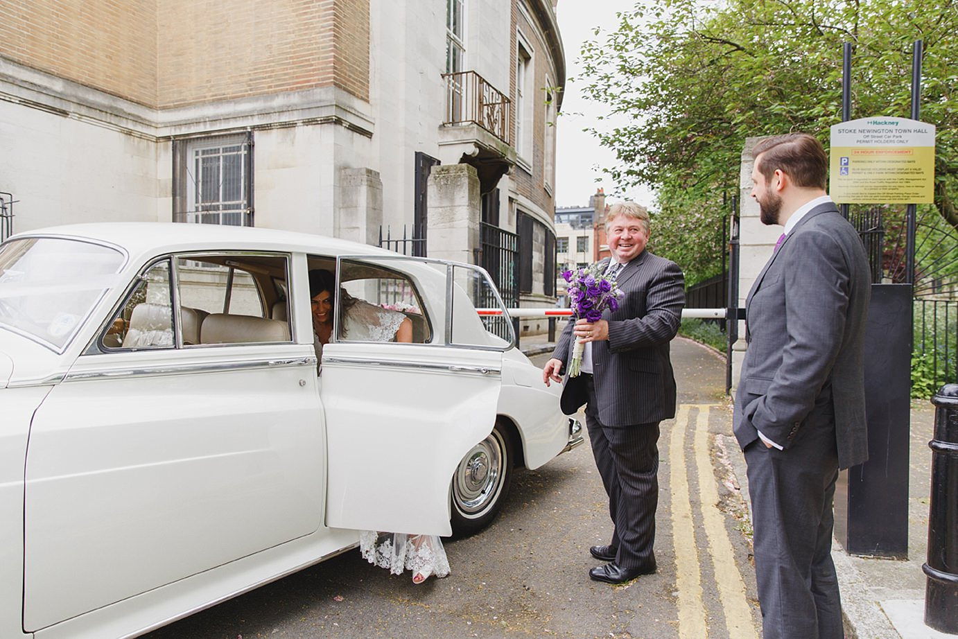 Londesborough pub wedding photography wedding car