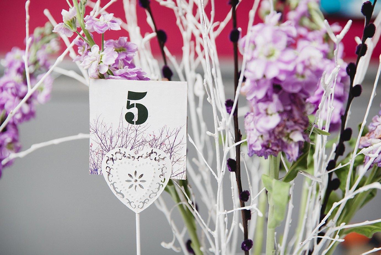 Londesborough pub wedding photography table number