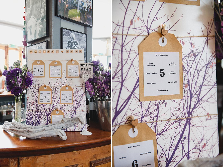 Londesborough pub wedding photography seating plan