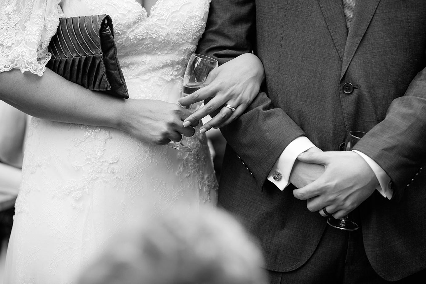 Londesborough pub wedding photography close up of bride and groom hands