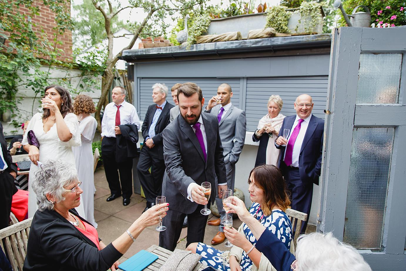 Londesborough pub wedding photography wedding toast