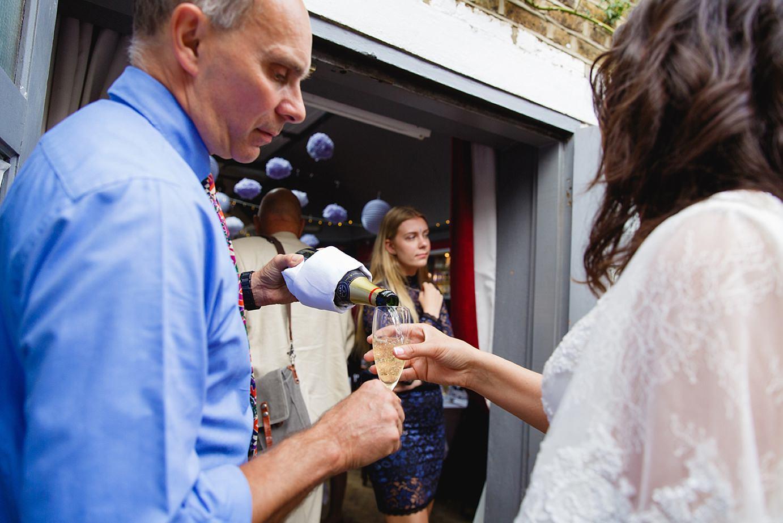 Londesborough pub wedding photography champagne