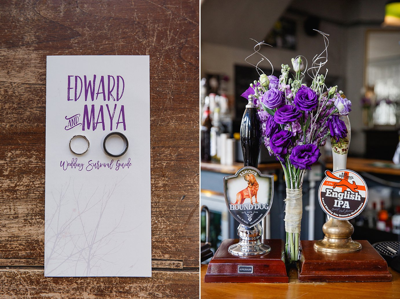Londesborough pub wedding photography wedding rings and bouquet