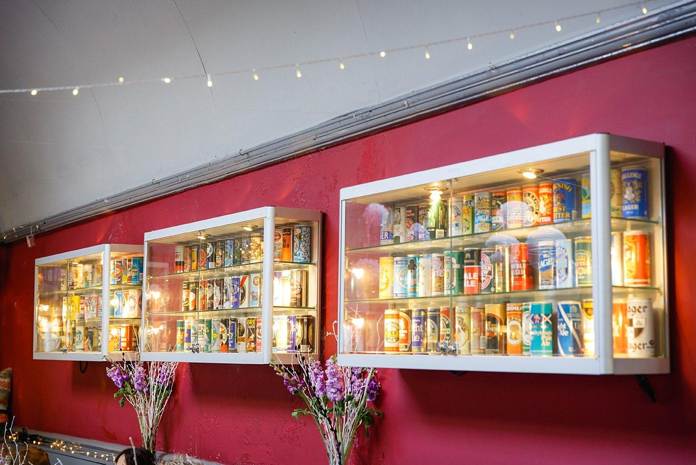 Londesborough pub wedding photography beer wall display
