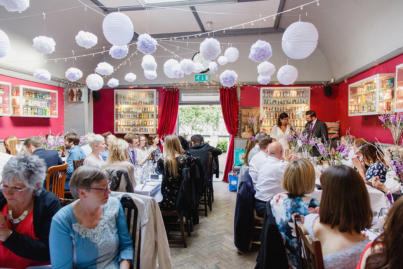 Londesborough pub wedding photography bride and groom speeches