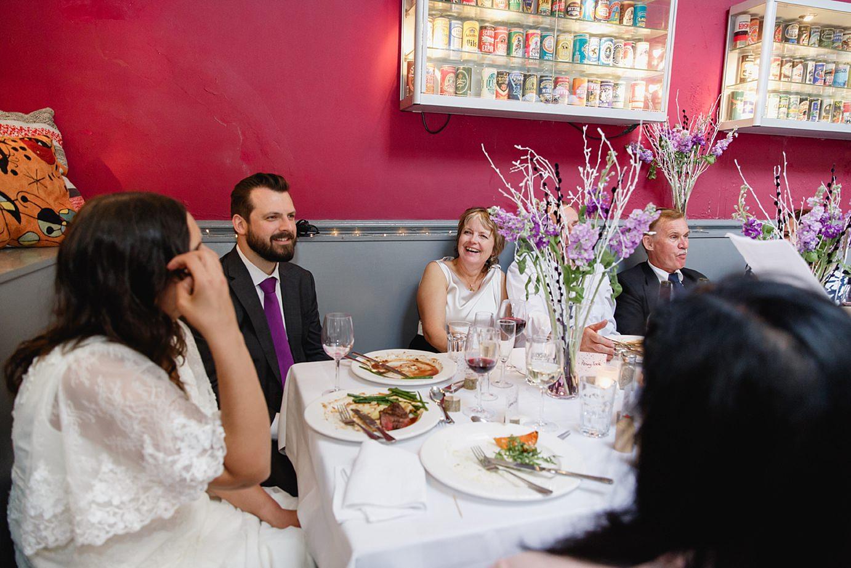 Londesborough pub wedding photography bride and groom during speech