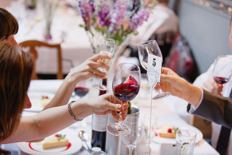 Londesborough pub wedding photography guests toasting