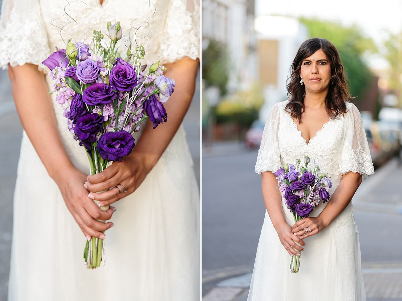 Londesborough pub wedding photography portrait of bride