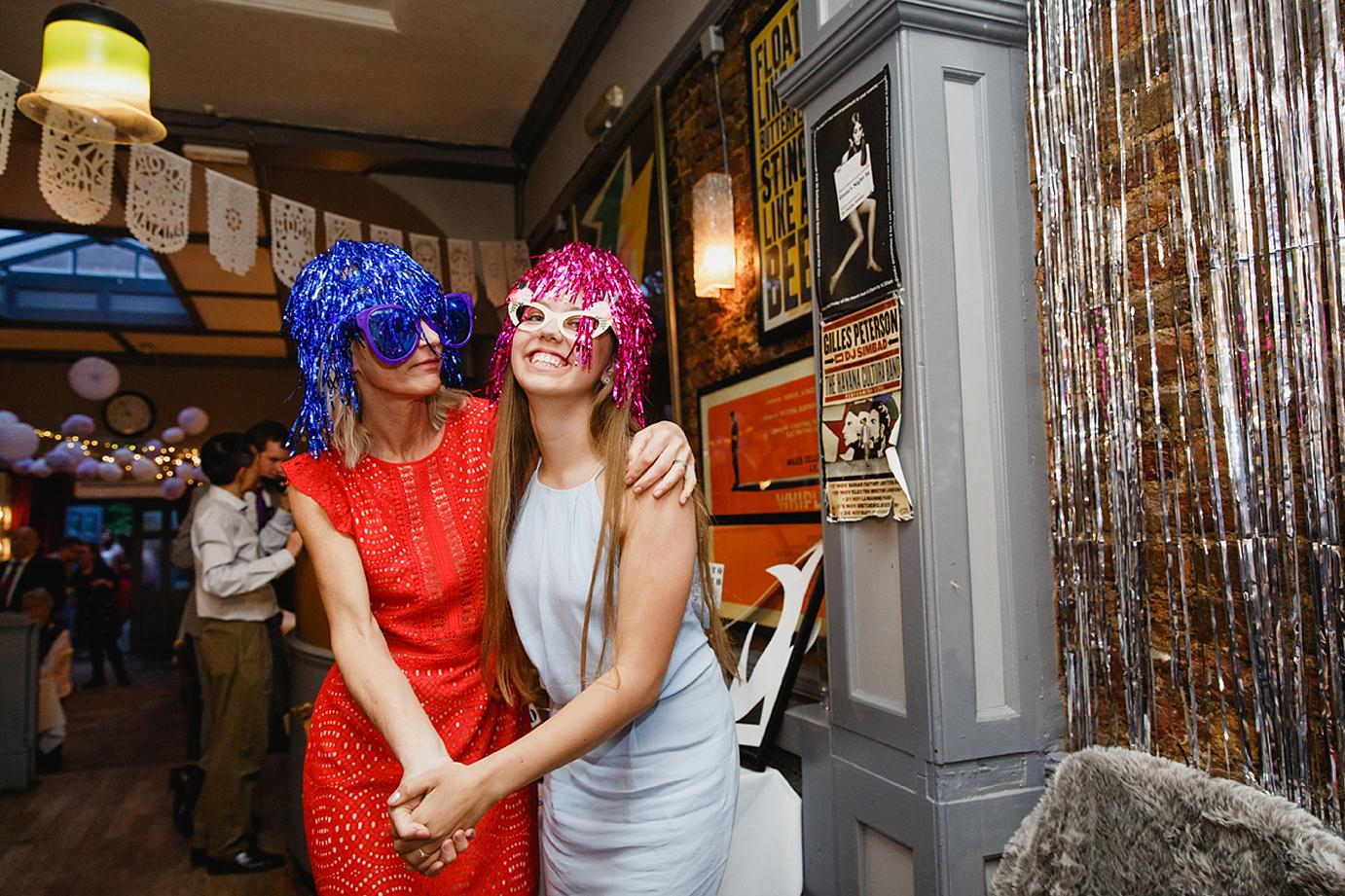 Londesborough pub wedding photography wedding guests at Photo Booth