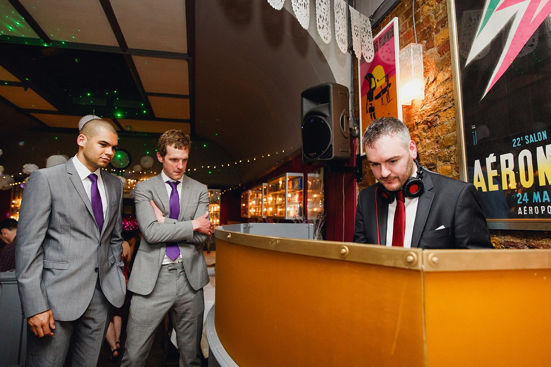 Londesborough pub wedding photography groomsmen with dj