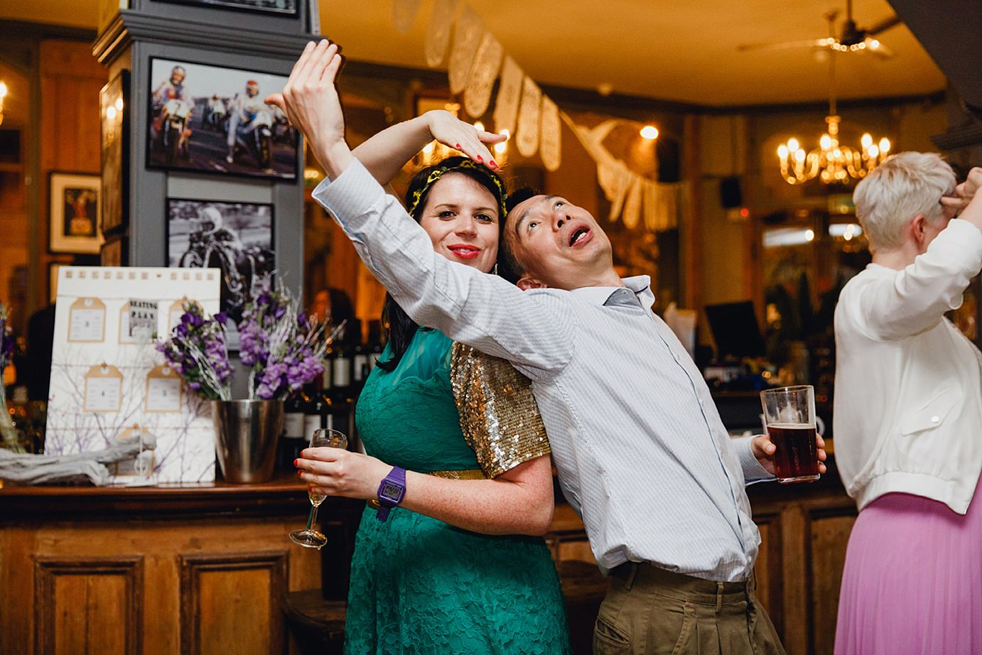 Londesborough pub wedding photography dancing