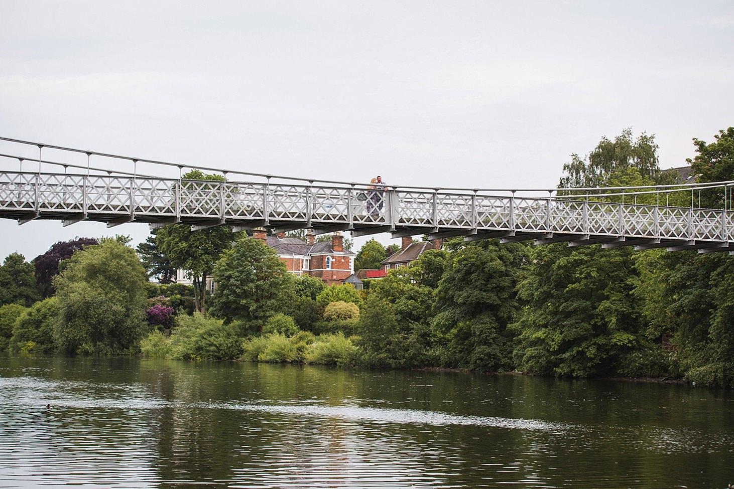chester engagement shoot queens park bridge