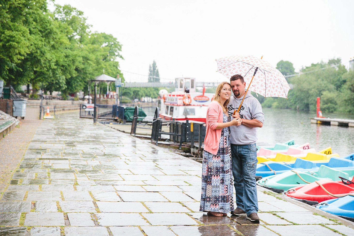 chester engagement shoot couple by river