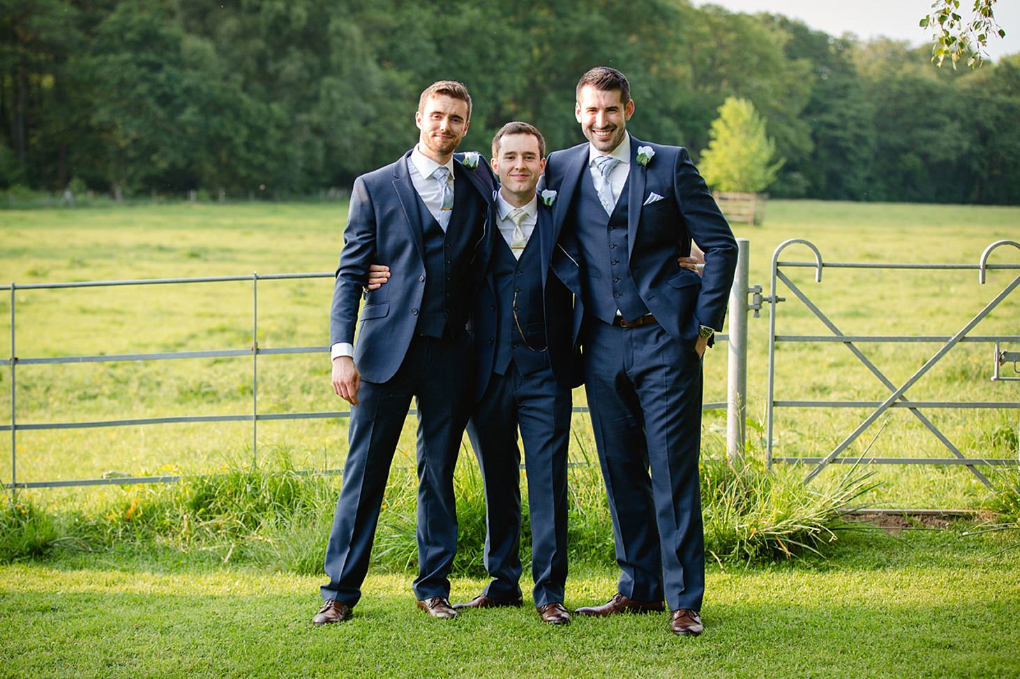 gate street barn wedding photography groom with groomsmen