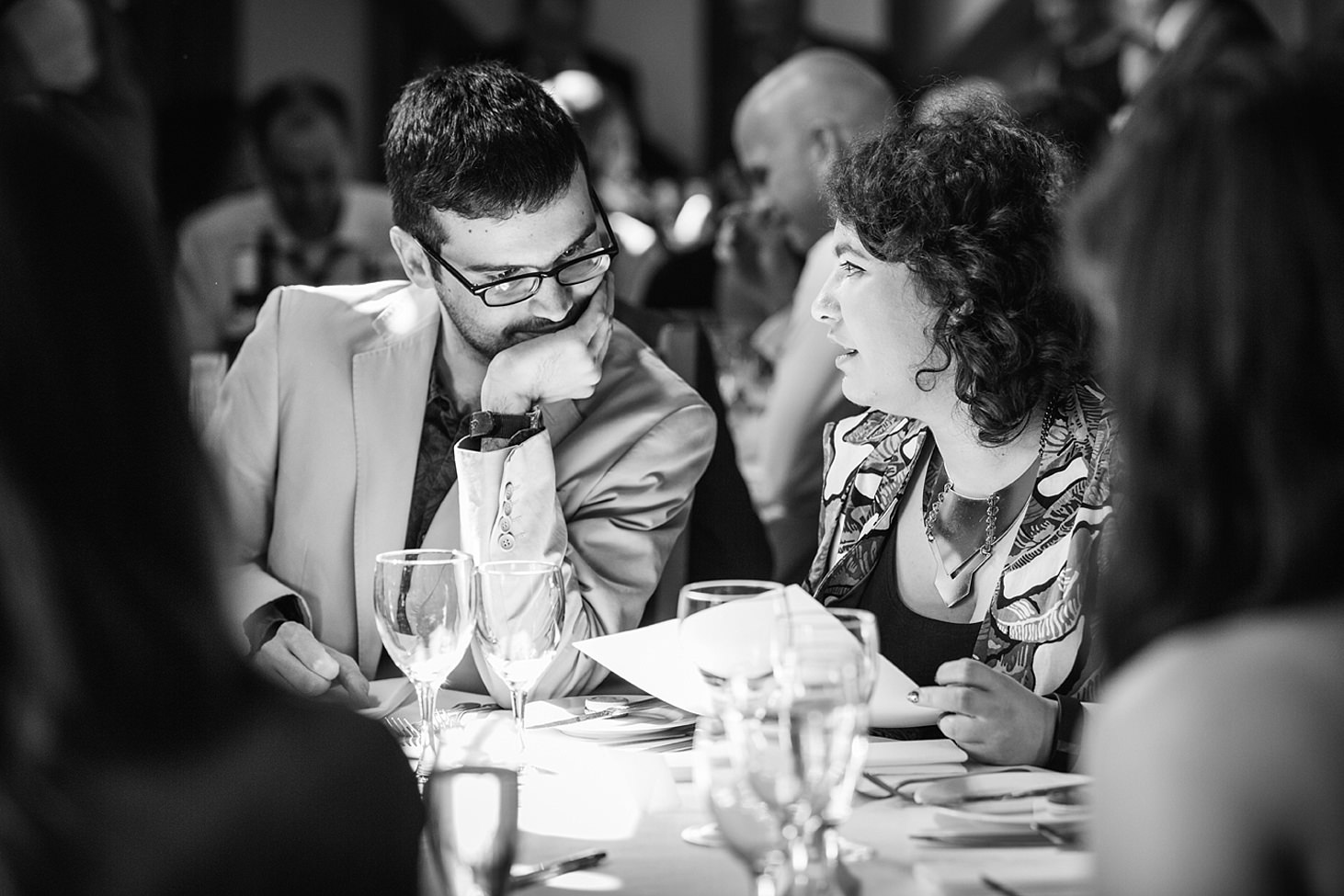gate street barn wedding photography guests doing quiz