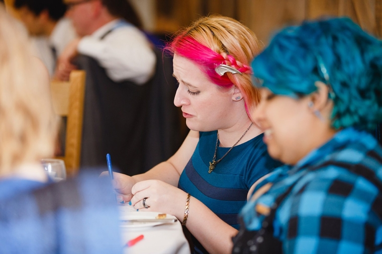 gate street barn wedding photography wedding guests and quiz