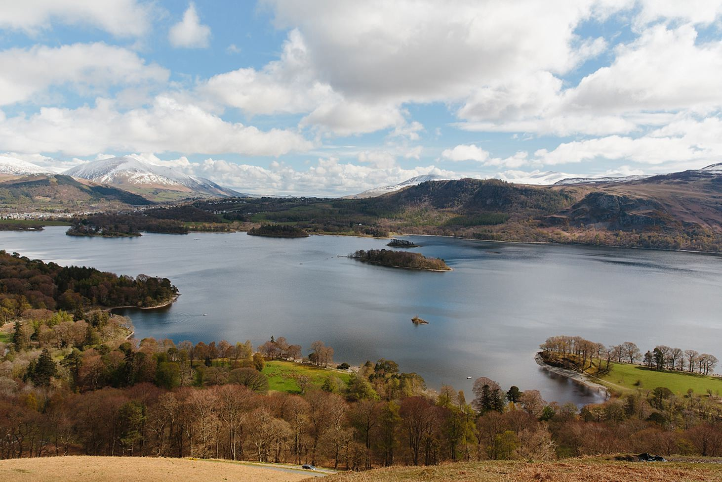 lake district travel photography view of derwent water