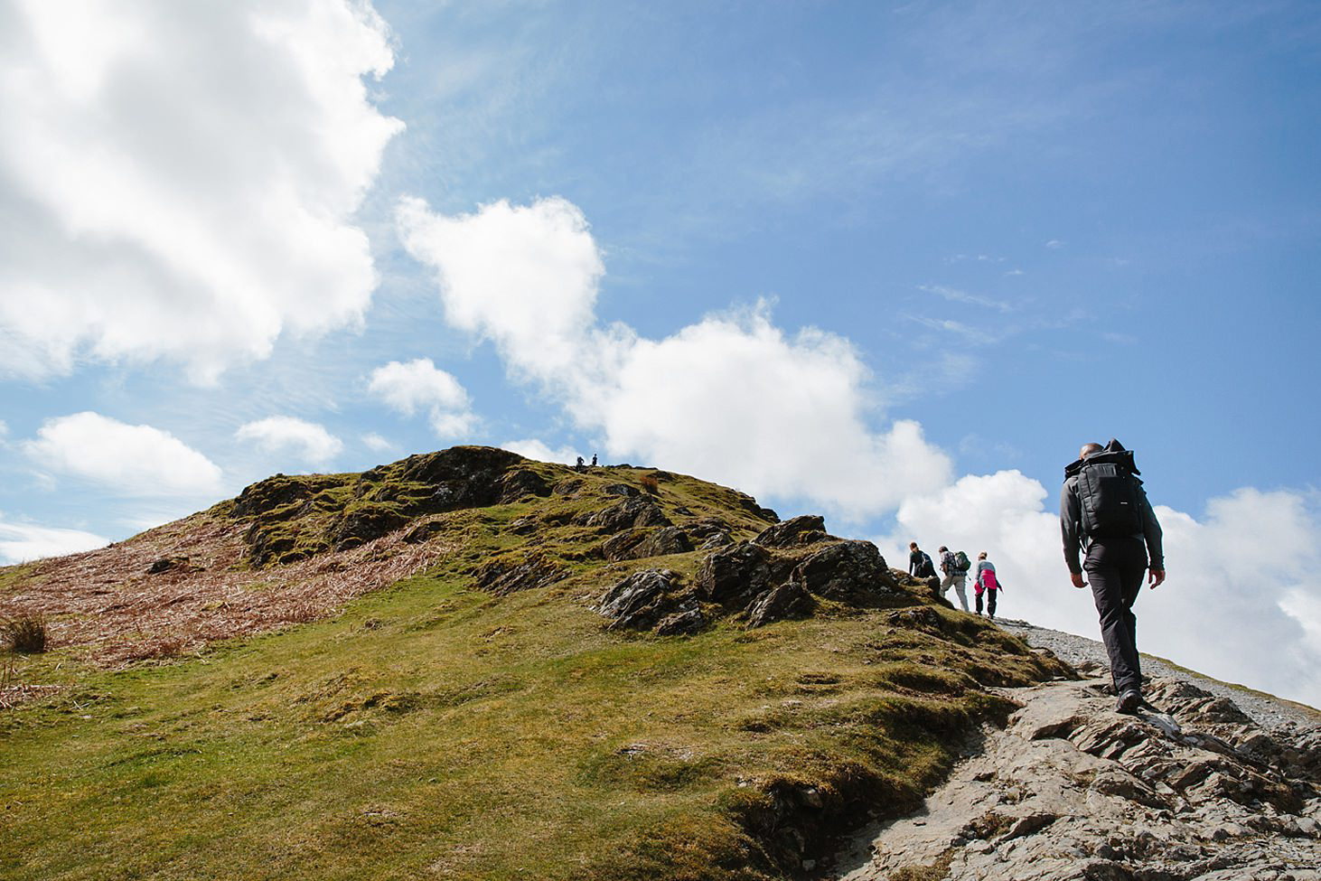 lake district travel photography walking to top
