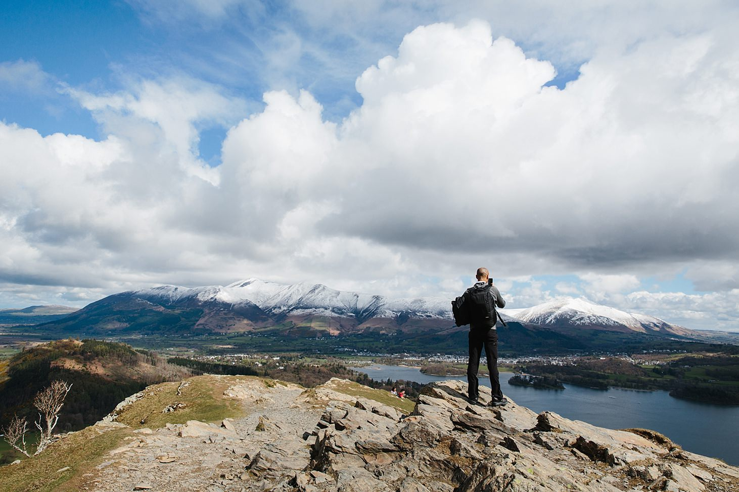 lake district travel photography on top of catbells
