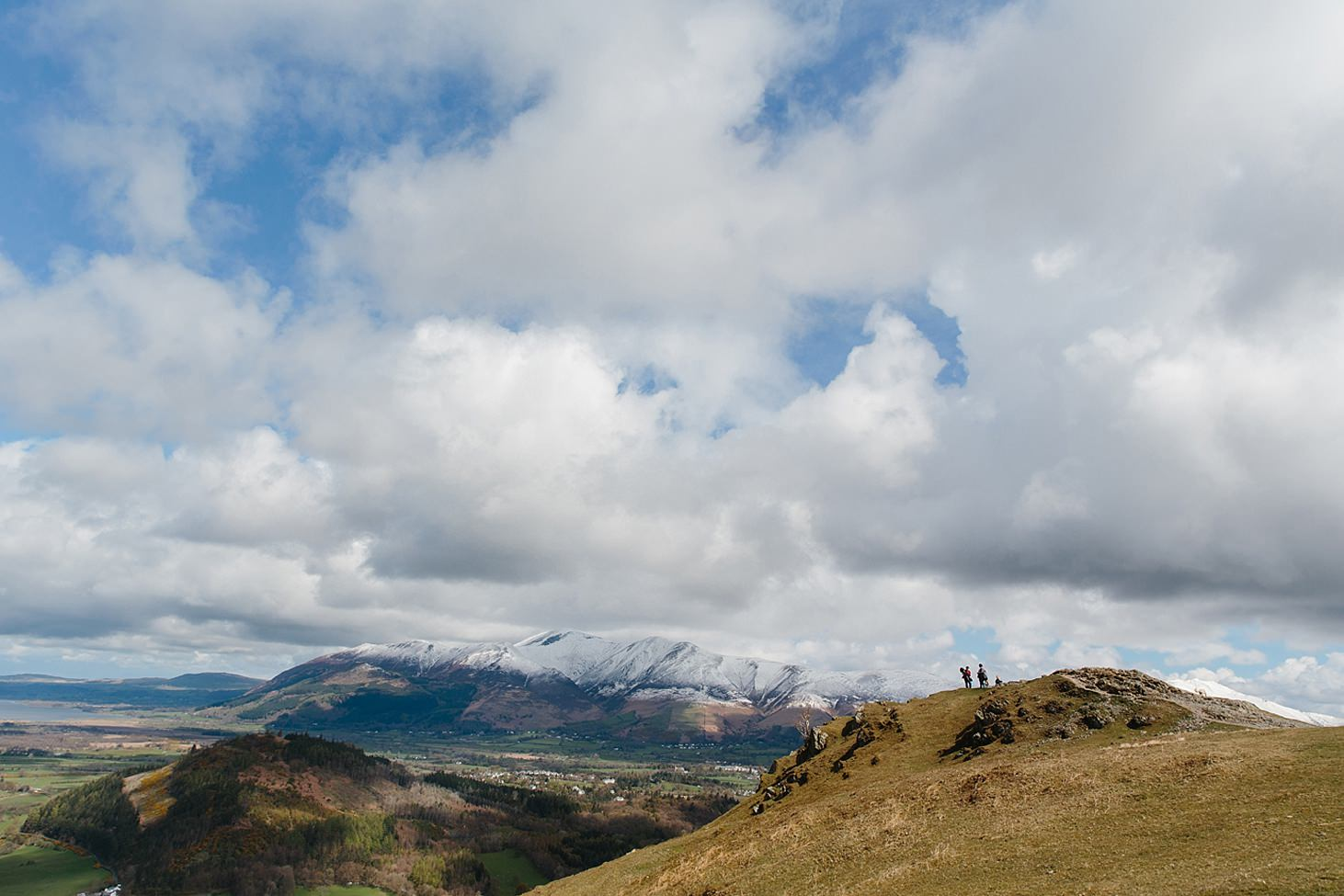 lake district travel photography top of catbells