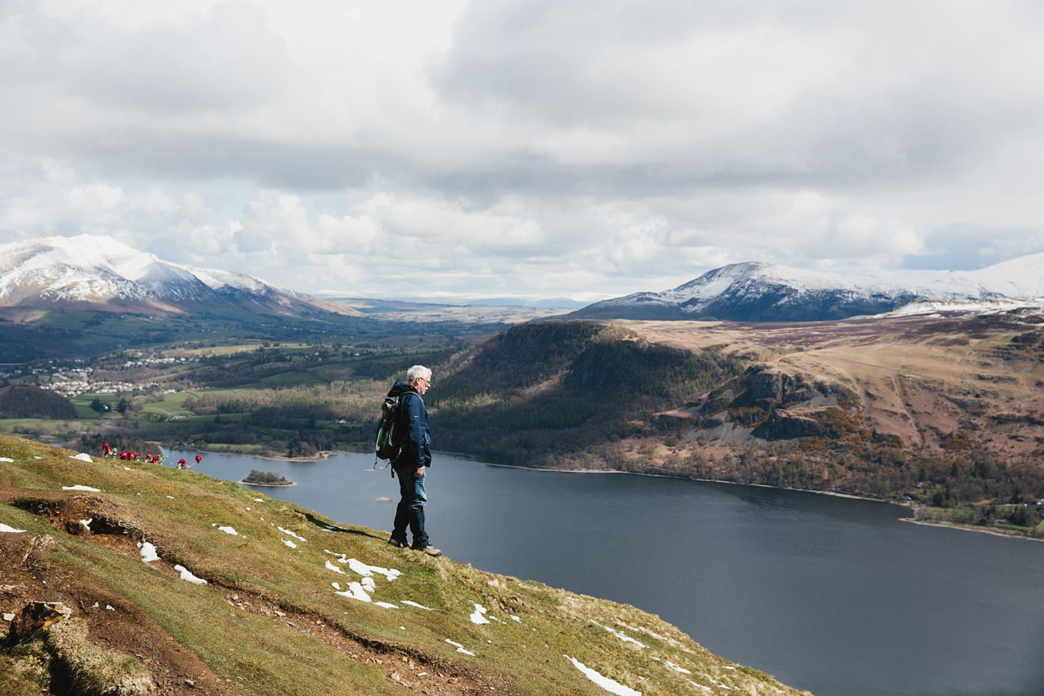 lake district travel photography catbells summit and lake