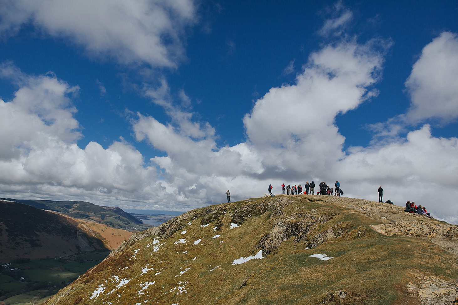 lake district travel photography on top of fells